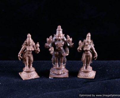 Lord Srinivsa With Boo Devi and Sridevi - Small