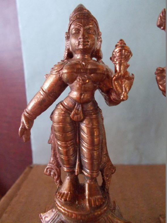 Lord Srinivasa With Bhoodevi and Sridevi