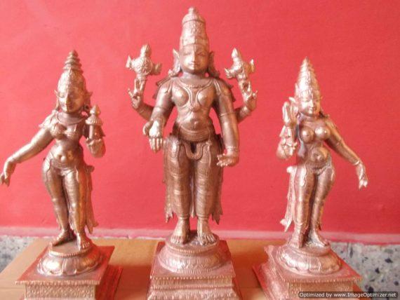 Lord Srinivsa With Boo Devi and Sridevi - Big
