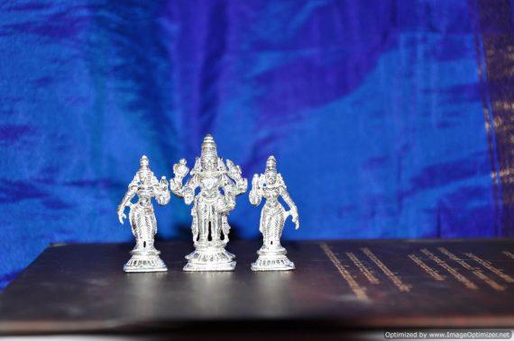 Srinivasa Sri Devi and Bhoodevi - Silver