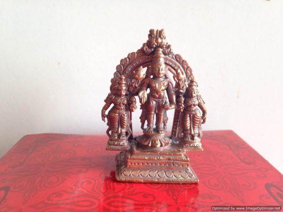 Srinivasa Sri Devi and Bhoodevi with prabhavali