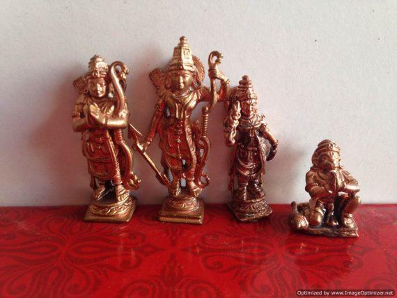 Lord Rama - Lakshmana -seetadevi and Pranadevaru (set)
