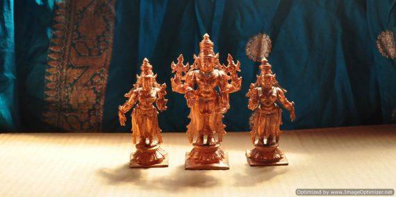 Srinivasa With Sridevi and Bhodevi